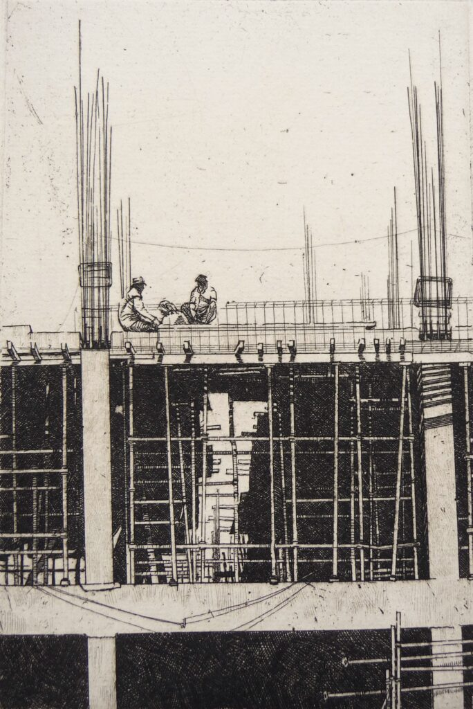 """Jodhpur Construction"" Etching 