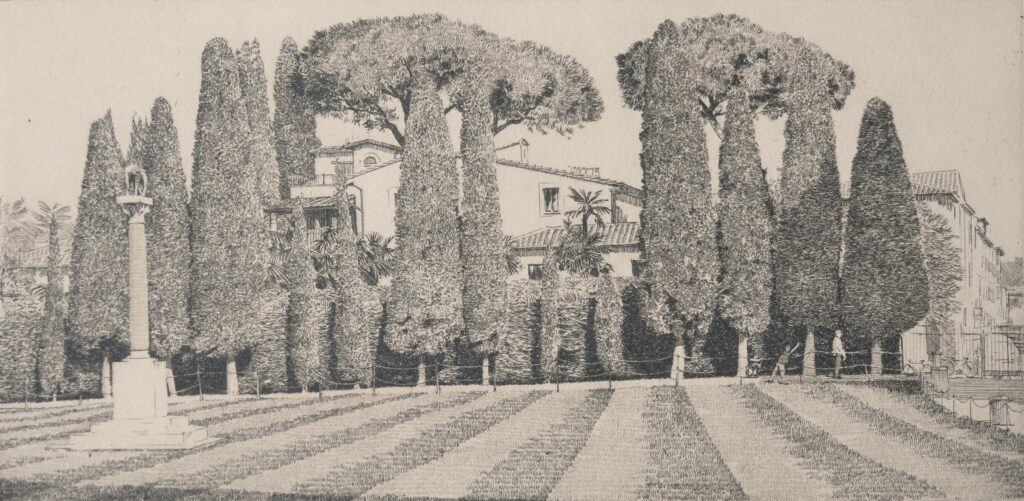 """Lupa Capitolina Pisa"" Etching 