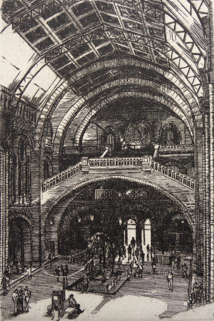 """Natural History Museum"" Etching 
