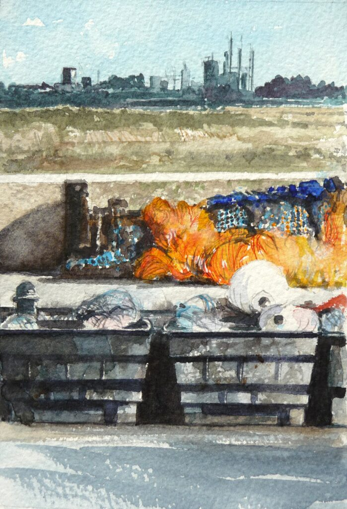 """Fishmarket Rye"" Watercolour 