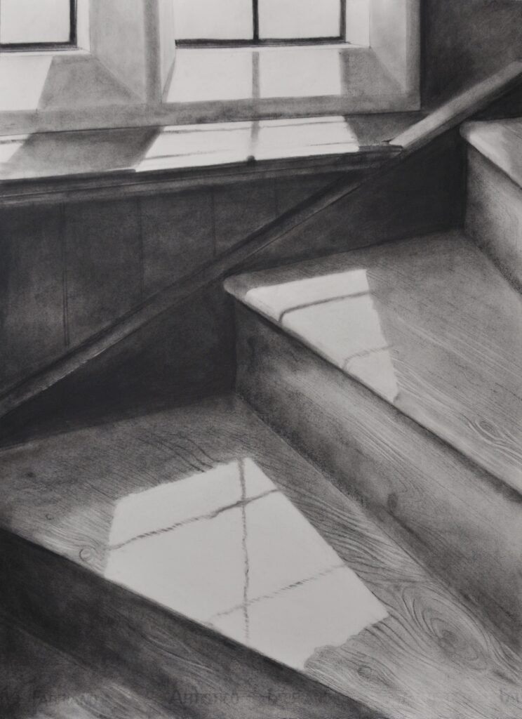 """The Grange, Ramsgate I"" Charcoal on paper 