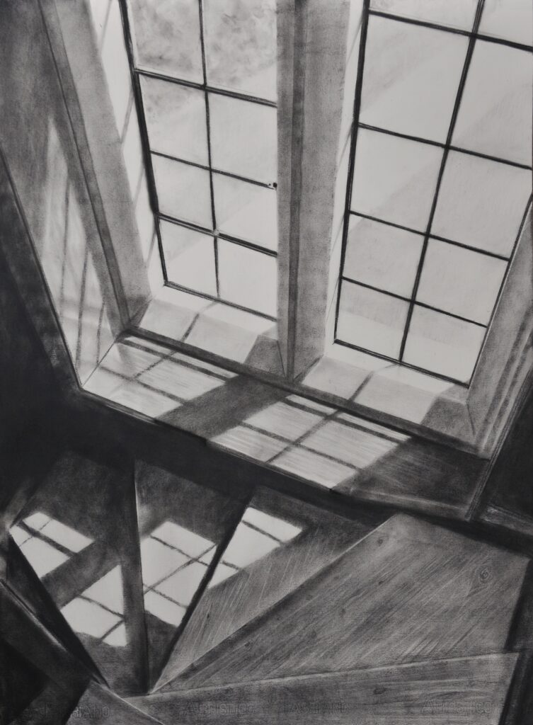"""The Grange, Ramsgate II"" Charcoal on paper 