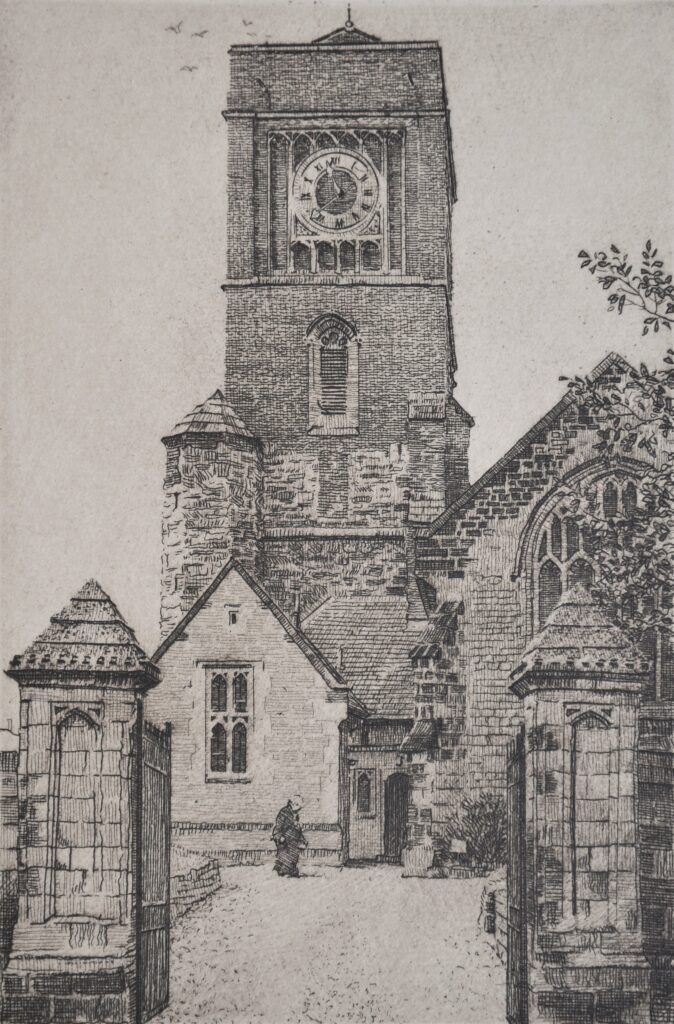"""St Marys Petworth"" Etching 