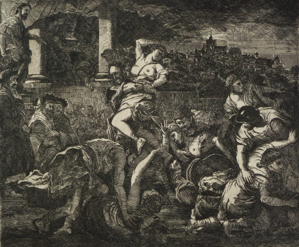 """The Rape of the Rye Townswomen"" Etching 