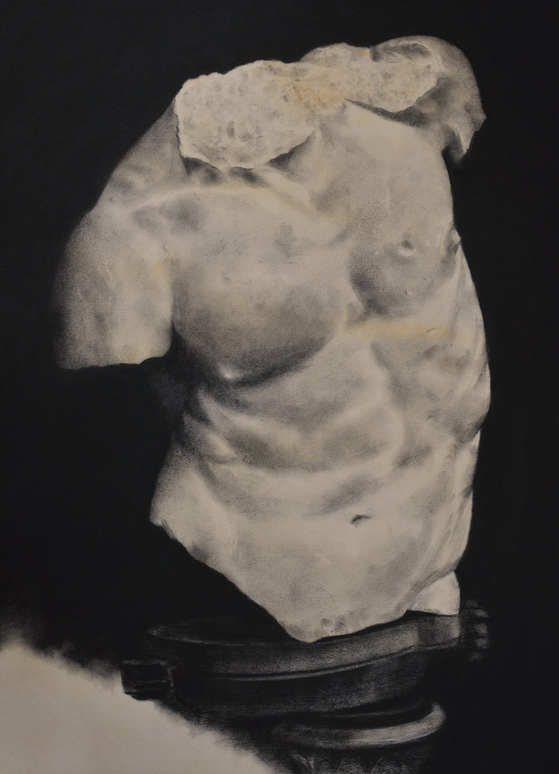 Charcoal drawing of a torso Florence
