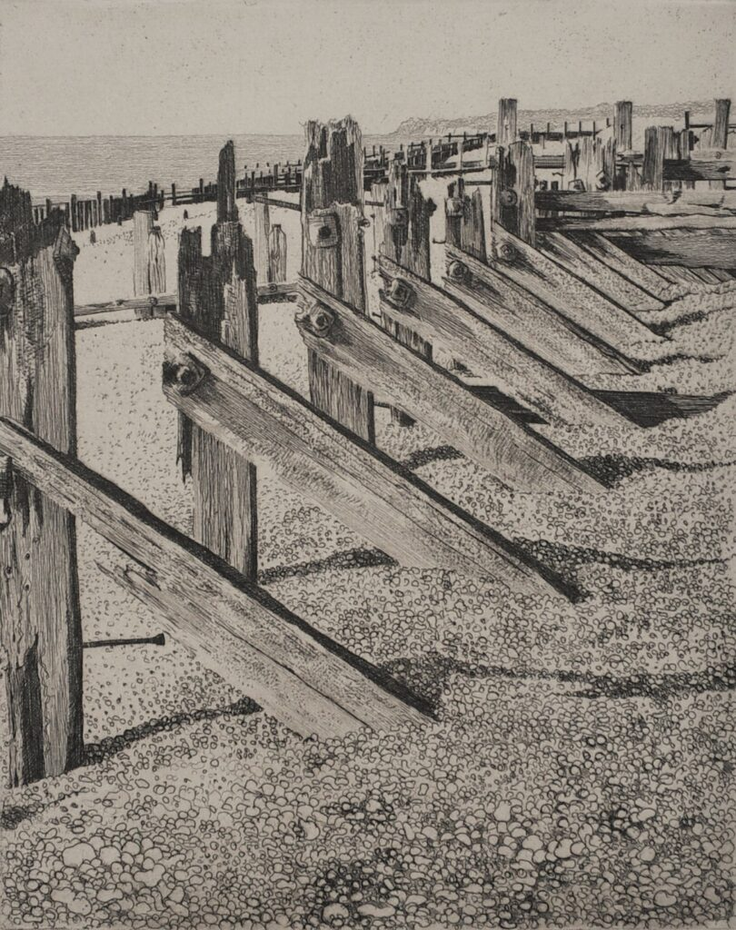 """Winchelsea Beach"" Etching 