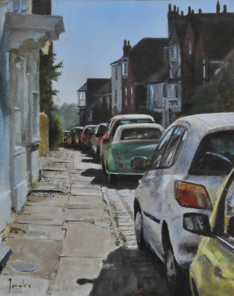 """Watchbell Street Rye"" Oil on board 