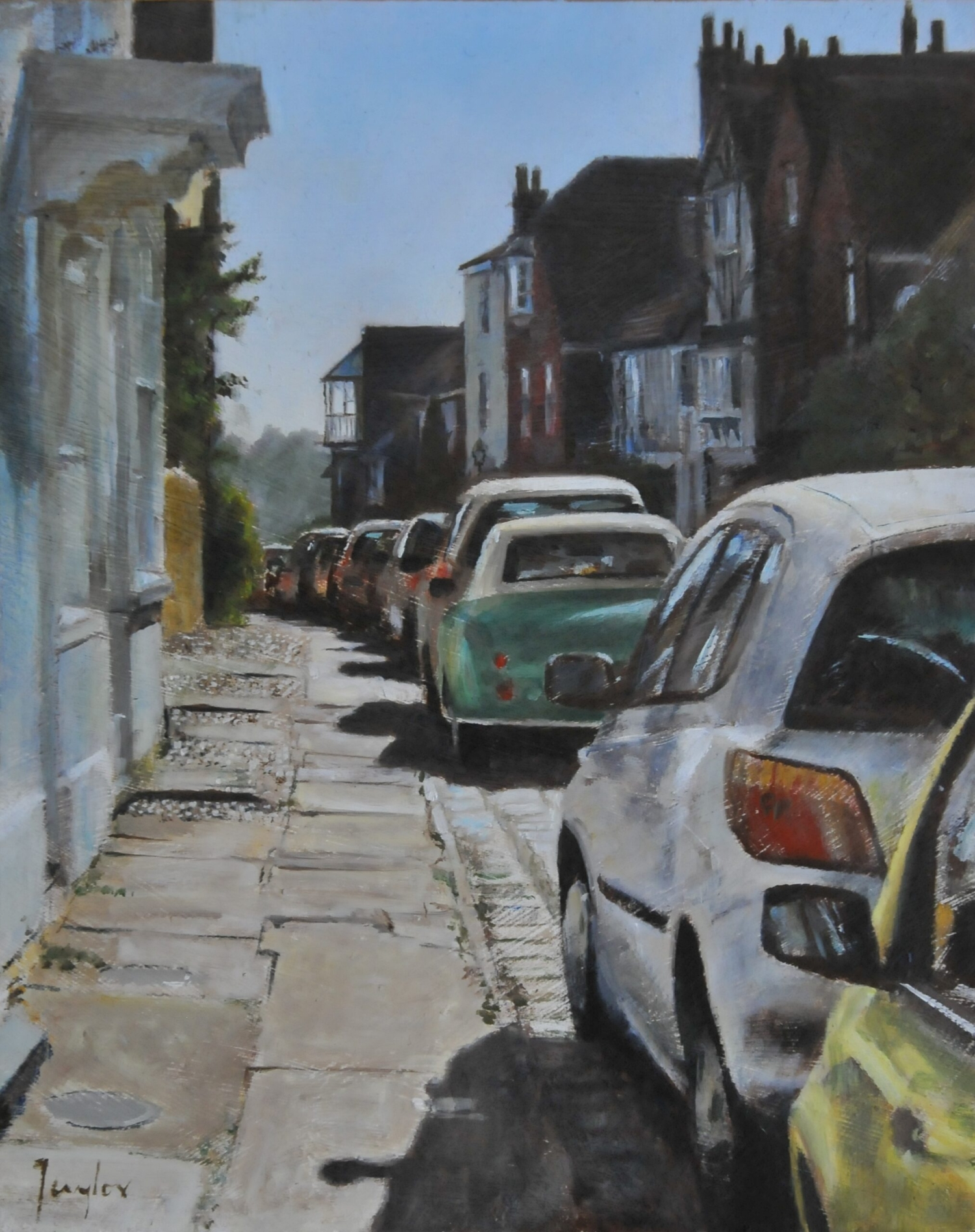 Oil painting of Watchbell Street Rye East Sussex